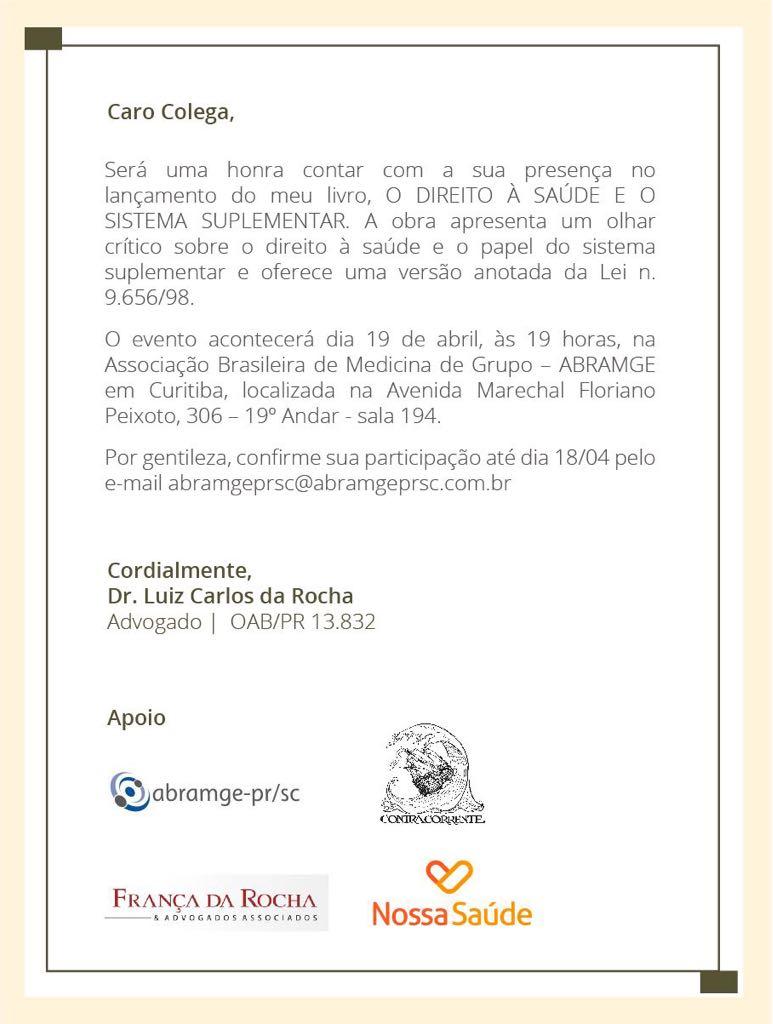 convite-livro dr rocha